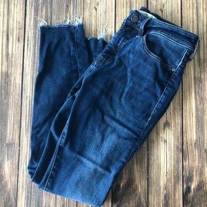 Mavi High-Rise Skinny Alissa Ankle Raw Hem Jeans